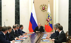 March 22, 2019 - Moscow, Russia - March 22, 2019. - Russia, Moscow. - Russian President Vladimir Putin chairs a meeting with members of the Security Council at the Kremlin. (Credit Image: © Russian Look via ZUMA Wire)