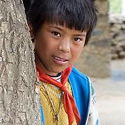 Portraits of village people outside Samye Monastery, Qingpu Canyon. Tibet. Asia.