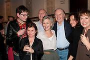 JAMES MACDONALD; IAN MCELHINNEY; DIANA HARDCASTLE; TIM PIGOTT-SMITH; LUCY COHU; IMELDA STAUNTON; PENELOPE WILTON, Press night for Edwards Albee's A Delicate Balance at the Almeida Theatre. London. 12 May 2011. <br /> <br />  , -DO NOT ARCHIVE-© Copyright Photograph by Dafydd Jones. 248 Clapham Rd. London SW9 0PZ. Tel 0207 820 0771. www.dafjones.com.