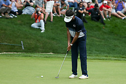 June 24, 2018 - Cromwell, Connecticut, United States - Bubba Watson putts the 18th green during the final round of the Travelers Championship at TPC River Highlands. (Credit Image: © Debby Wong via ZUMA Wire)