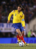 BUENOS AIRES, ARGENTINA - June 06, 2009.<br /> 2010 FIFA World Cup qualifying Soccer match between ARGENTINA and COLOMBIA in the River Plate Stadium.<br /> Here Colombian player MARIO YEPES.<br /> © PikoPress