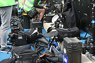 The press photographers during the Premier League match between Chelsea and Sunderland at Stamford Bridge, London, England on 21 May 2017. Photo by John Potts.