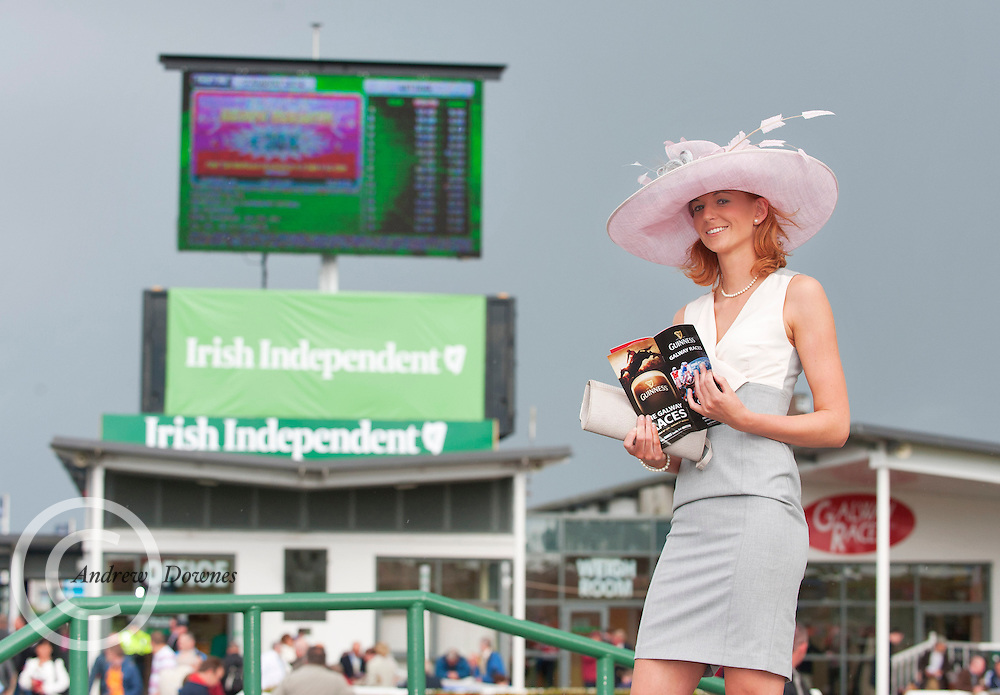 03/08/2012 Rosie Daniel from Limerick  at the Friday evening meeting of the Galway Races. Photo:Andrew Downes