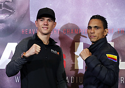 Luke Campbell (left) and Darleys Perez during a press conference at Sky Sports Studios, Isleworth.