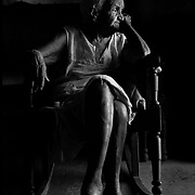 Maria Formosa waiting for grandchildren visit in Havana, Cuba.<br />   (Leica M6  with Summicron lens and Agfa Scala film)