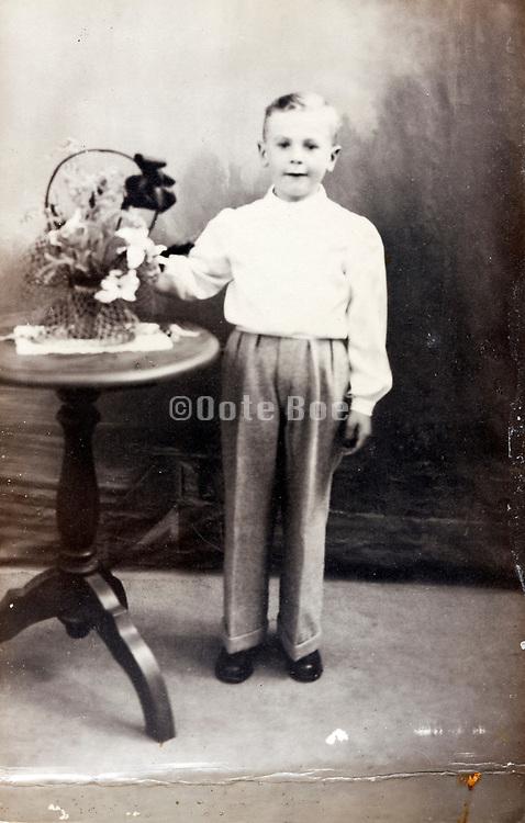child in studio memory portrait 1940s France