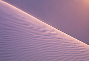 Sand dune at sunset, White Sands National Park, New Mexico