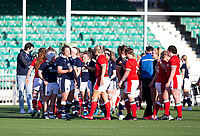 Rugby Union - 2021 Women's Six Name - Third Place Final - Scotland vs Wales - Scotstoun Stadium<br /> <br /> Both teams embrace at full time<br /> <br /> Credit: COLORSPORT/BRUCE WHITE