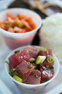 Yama's Fish Market, open since 1980, serves up Hawaiian Plate Lunch with offerings such as Lau Lau, Lomi Lomi Salmon, Ahi Poki and fresh Poi..Pictured is the Ahi Poke.
