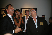 GEORGIO VERONI, NAOMI CAMPBELL, TIM JEFFERIES AND FLAVIO BRIATOR, Helmut Newton XL. Hamiltons. Carlos Place. London. 25 September 2007. -DO NOT ARCHIVE-© Copyright Photograph by Dafydd Jones. 248 Clapham Rd. London SW9 0PZ. Tel 0207 820 0771. www.dafjones.com.