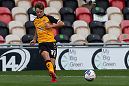 Newport County's Scott Twine (19) in action during the EFL Sky Bet League 2 match between Newport County and Tranmere Rovers at Rodney Parade, Newport, Wales on 17 October 2020.