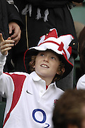 Twickenham. GREAT BRITAIN,  England fan,  in jesters hat, before the, 2006 Investec Challenge, game between, England  and New Zealand [All Blacks], on Sun., 05/11/2006, played at the Twickenham Stadium, England. Photo, Peter Spurrier/Intersport-images].....   [Mandatory Credit, Peter Spurier/ Intersport Images].