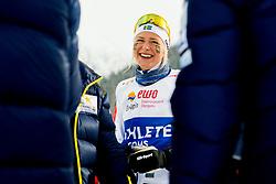 February 3, 2018 - Goms, SWITZERLAND - 180203 Frida Karlsson of Sweden after the women's 4x3,3 km relay during the FIS Nordic Junior World Ski Championships on February 3, 2018 in Obergoms..Photo: Vegard Wivestad GrÂ¿tt / BILDBYRN / kod VG / 170098 (Credit Image: © Vegard Wivestad Gr¯Tt/Bildbyran via ZUMA Press)
