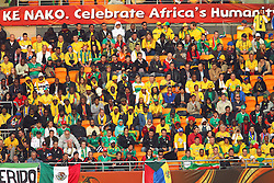Fans during the Group A first round 2010 FIFA World Cup South Africa match between South Africa and Mexico at Soccer City Stadium on June 11, 2010 in Johannesburg, South Africa.  (Photo by Vid Ponikvar / Sportida)