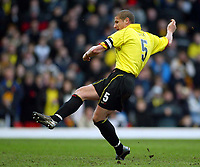 Photo: Scott Heavey.<br />Watford v Sunderland. Nationwide Division One. 07/02/2004.<br />Neil Cox scores Watfords second from the penalty spot