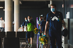 Luka Doncic during arrival of Slovenian national team from Tokio 2020 Olympic games, 8. August 2021, Airport Jozeta Pucnika, Ljubljana, Slovenia. Photo by Grega Valancic