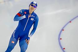 10-11-2017 NED: ISU World Cup, Heerenveen<br /> 500 m men, Tae-Yun Kim KOR