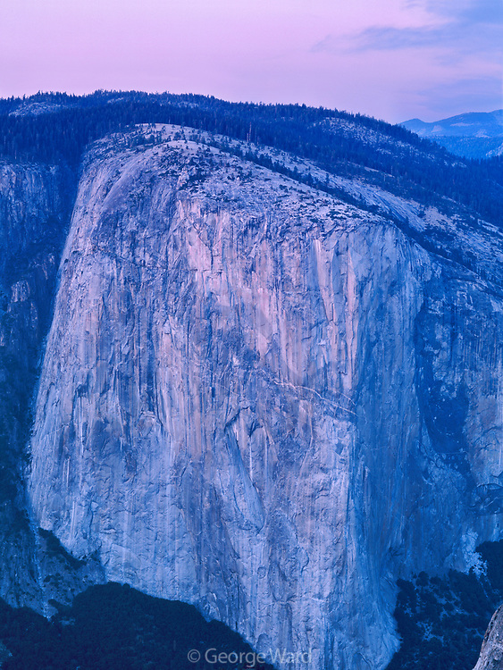 El Capitan in from Taft Point, Yosemite National Park, California