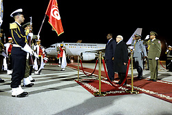 December 18, 2018 - Carthage, Tunisia - The president of the Tunisian republic welcomes the Senegalese president to Tunis-Carthage airport .....Senegalese President Macky Sall is paying an official visit to Tunisia on December 18 and 19, at the head of a large delegation of Senegalese ministers and senior officials, at the invitation of President Béji Caïd Essebsi..According to a statement from the President of the Republic, this visit is part of the desire of the two countries to further strengthen the strong relations established between the two countries since the year 1962. (Credit Image: © Chokri Mahjoub/ZUMA Wire)