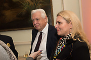 JOHN SIMPSON; DEE KRUGER, Launch of book by Basia Briggs, Mother Anguish. The Ritz hotel, Piccadilly. 4 December 2017