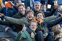 AMSTELVEEN - Wouter Jolie, Tim Jenniskens, Hasselt, Bruin,   tijdens  de tweede  Olympische kwalificatiewedstrijd hockey mannen ,  Nederland-Pakistan (6-1). Oranje plaatst zich voor de Olympische Spelen 2020.   COPYRIGHT KOEN SUYK