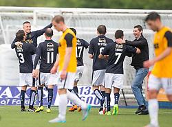 Falkirk's John Baird celebrates after scoring their third goal. Falkirk 3 v 1 East Fife, Petrofac Training Cup played 25th July 2015 at The Falkirk Stadium.