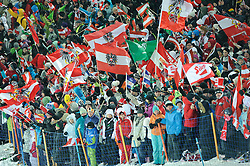 24.01.2012, Planai, Schladming, AUT, FIS Weltcup Ski Alpin, Herren, Slalom 1. Durchgang, im Bild Feature mit Fans // fans during the first run of the FIS Alpine Skiing World Cup mens slalom race, Schladming, Austria on 2012/01/24. EXPA Pictures © 2012, PhotoCredit: EXPA/ Sandro Zangrando