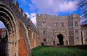 A728J5 St Osyth priory gatehouse Essex England. Image shot 2007. Exact date unknown.