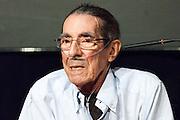 "Enrique Meneses during the presentation of the book ""La tierra Mas hermosa: Cuba"" in the context of PhotoEspaña at Casa de America, Madrid (June 2012)"