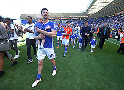 Birmingham City player parade during a lap of honour at the end of the the Sky Bet Championship season at St Andrew's Stadium Birmingham.