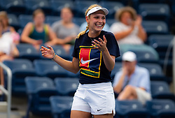 August 21, 2019, New York, NEW YORK, USA: Donna Vekic of Croatia during practice at the 2019 US Open Grand Slam tennis tournament (Credit Image: © AFP7 via ZUMA Wire)