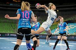 Natalia Chigirinova of CSKA during 1st Leg handball match between RK Krim Mercator (SLO) and CSKA Moscow (RUS) in the Round of 16 of Delo EHF Women's Champions League 2020/21, on March 6, 2021 in Arena Stozice, Ljubljana, Slovenia. Photo by Vid Ponikvar / Sportida