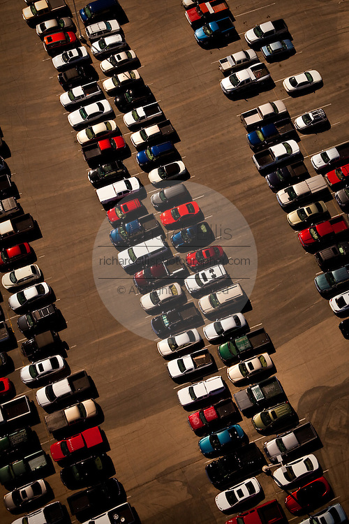 Aerial view of cars parked Las Vegas, Nevada