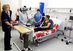 File photo dated 06/07/11 of Queen Elizabeth II meeting patients at the Forth Valley Royal Hospital in Stirling, which the Queen formally opened, the hospital which cost 300 million, was said to be one of the most modern in Europe. The NHS will celebrate its 70th anniversary on Thursday 5th July 2018.