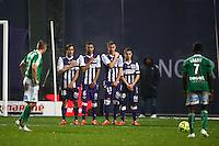 Oscar Trejo / William Matheus / Uros Spajic / Wissam Ben Yedder - 28.02.2015 - Toulouse / Saint Etienne - 27eme journee de Ligue 1 -<br />Photo : Manuel Blondeau / Icon Sport