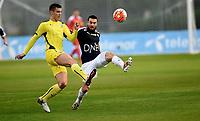 Fotball , 26.  januar 2016 , privatkamp<br /> Strømsgodset - Dinamo Zagreb<br /> Mounir Hamoud , SIF<br /> Filip Benkovic , DS