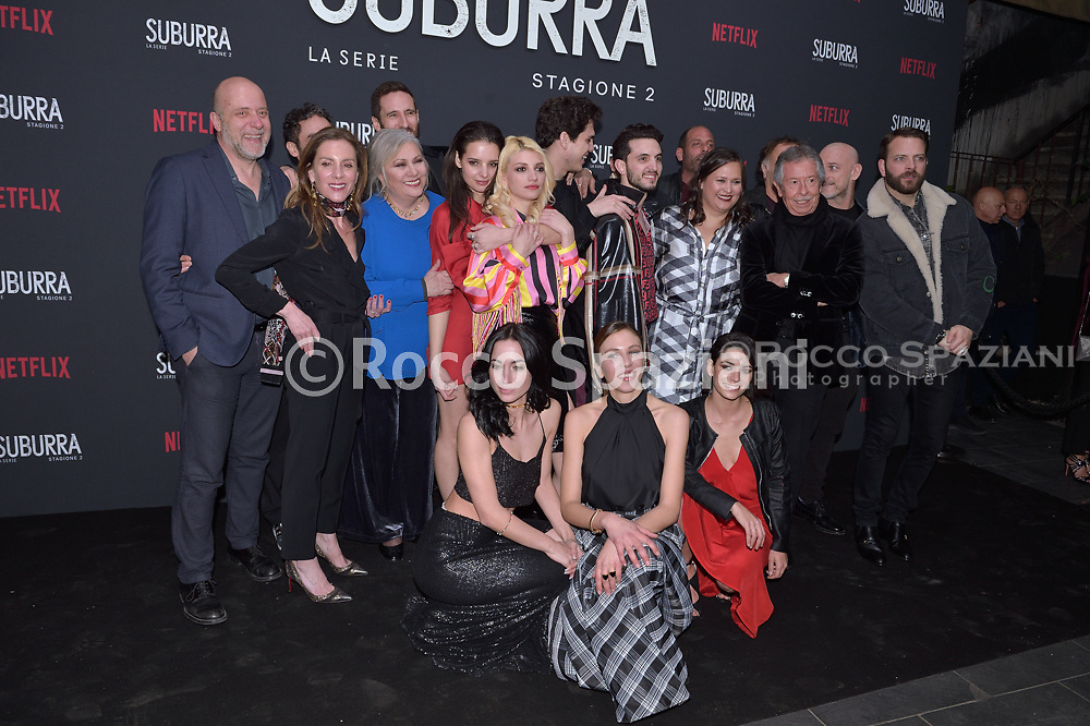 ROME, ITALY - FEBRUARY 20:   attends the after party for Netflix 'Suburra' The Series, season 2 launch at Circolo Degli Illuminati on February 20, 2019 in Rome, Italy.