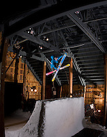 """Ben Moxham.PBP Jib Jam @ Schweitzer, ID.this Qpipe was built in the entry way for the Stella lift. They hired Disney Staff to give it a """"Disney"""" feel. quite unique setting"""