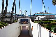 Pedestrian Walkway Under Train Tracks to the San Clemente Pier