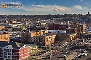 Looking down North Browne Street in downtown Spokane, Washington, USA