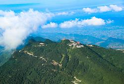 August 1, 2018 - Huayin, Huayin, China - Huaying, CHINA-Scenery of the Huaying Mountain enveloped in mist in Huaying, southwest China's Sichuan Province. (Credit Image: © SIPA Asia via ZUMA Wire)