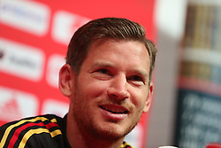 September 5, 2018 - Tubize, BELGIUM - Belgium's Jan Vertonghen pictured at a press conference of Belgian national soccer team the Red Devils in Tubize, Wednesday 05 September 2018. The team is preparing for a friendly match against Scotland on 07 September and the UEFA Nations League match against Iceland on 11 September...BELGA PHOTO BRUNO FAHY (Credit Image: © Bruno Fahy/Belga via ZUMA Press)