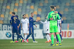 Rok Kronaveter of NK Maribor and Nejc Vidmar of NK Olimpija during football match between NK Maribor and NK Olimpija Ljubljana in Round #21 of Prva liga Telekom Slovenije 2019/20, 22 February, 2020 in Ljudski vrt, Maribor, Slovenia. Photo By Grega Valancic / Sportida