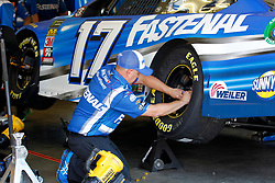 June 22, 2018 - Sonoma, CA, U.S. - SONOMA, CA - JUNE 22: A crew member puts new rubber on the Fastenal sponsored Roush Fenway Racing Ford during practice for the Monster Energy NASCAR Cup Series - Toyota/Save Mart 350 at Sonoma Raceway in Sonoma, CA. (Photo by Larry Placido/Icon Sportswire) (Credit Image: © Larry Placido/Icon SMI via ZUMA Press)