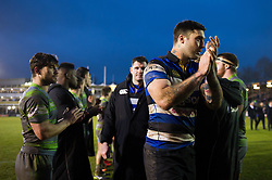 Matt Banahan of Bath Rugby leads his team-mates off the field after the match - Mandatory byline: Patrick Khachfe/JMP - 07966 386802 - 27/01/2018 - RUGBY UNION - The Recreation Ground - Bath, England - Bath Rugby v Newcastle Falcons - Anglo-Welsh Cup