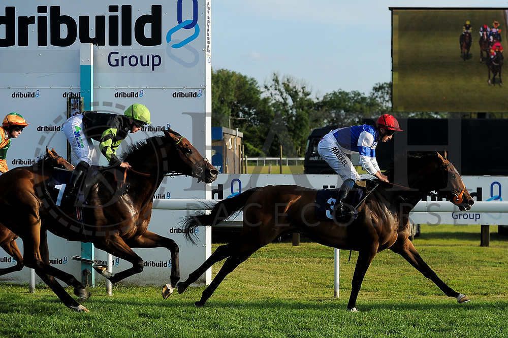 """Horatio Star ridden by Tom Marquand and trained by Brian Meehan in the Play """"Four From The Top"""" At Valuerater.Co.Uk Handicap (Value Rater Racing Club Summer Stayers' Qual) race.  - Ryan Hiscott/JMP - 02/08/2019 - PR - Bath Racecourse - Bath, England - Race Meeting at Bath Racecourse"""