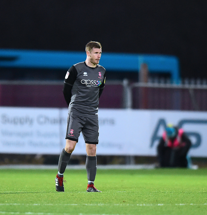 Lincoln City's Michael O'Connor<br /> <br /> Photographer Andrew Vaughan/CameraSport<br /> <br /> The EFL Sky Bet League Two - Stevenage v Lincoln City - Saturday 8th December 2018 - The Lamex Stadium - Stevenage<br /> <br /> World Copyright © 2018 CameraSport. All rights reserved. 43 Linden Ave. Countesthorpe. Leicester. England. LE8 5PG - Tel: +44 (0) 116 277 4147 - admin@camerasport.com - www.camerasport.com