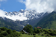 Georgia, Svaneti Region, Mountain landscape