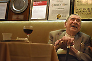 BRONX, NEW YORK, APRIL 5, 2017 Joe Binder celebrates his 107th birthday with family and friends at Mario's Restaurant on Arthur Avenue in the Bronx, NY.  4/5/2017 Photo by ©Jennifer S. Altman/For The New York Times