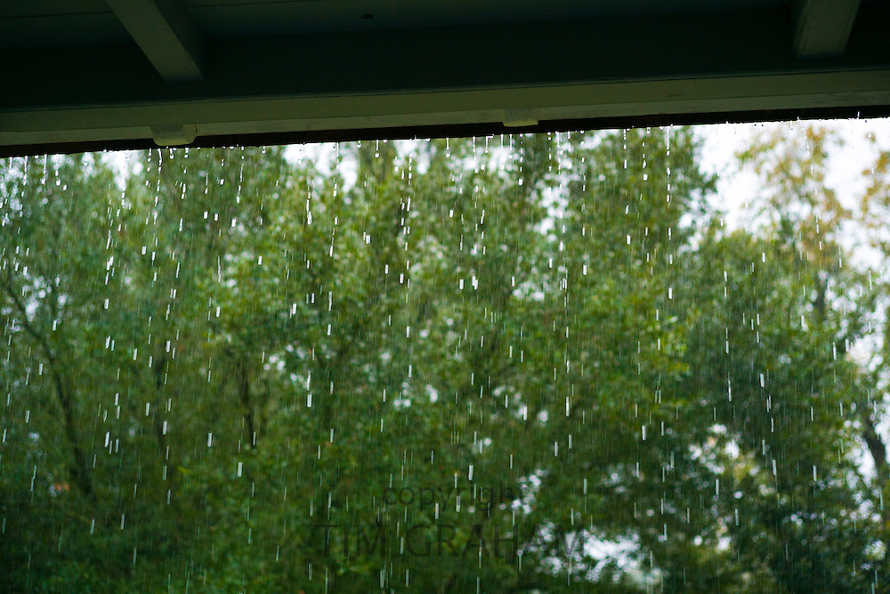 Heavy rainfaill inclement weather in the Mississippi Delta, Louisiana, USA
